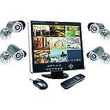 Elro DVR151S Überwachungssystem 8-Kanal inklusiv 1 TB Festplatte und 4 CCD Aussenkameras