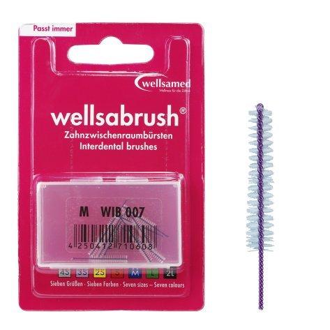 wellsamed wellsabrush Interdentalbürsten Nachfüllpack M konisch 0,8 mm, 10 Stück, pink