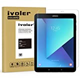 Samsung Galaxy Tab S3 9.7'' (SM-T820 / SM-T825) / S2 9.7'' (SM-T810 / SM-T815) Protection écran, iVoler® Film Protection d'écran en Verre Trempé Glass Screen Protector Vitre Tempered pour Samsung Galaxy Tab S3 9.7'' (SM-T820 / SM-T825) / S2 9.7'' (SM-T810 / SM-T815) - Dureté 9H, Ultra-mince 0.30 mm, 2.5D Bords Arrondis- Anti-rayure, Anti-traces de doigts,Haute-réponse, Haute transparence- Garantie de Remplacement de 18 Mois