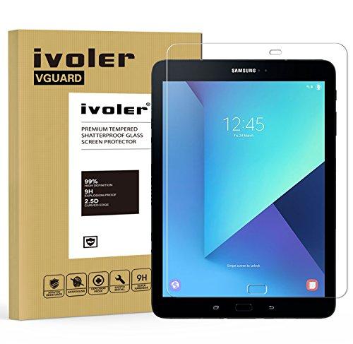 Samsung Galaxy Tab S3 9.7'' (SM-T820 / SM-T825) / S2 9.7'' (SM-T810 / SM-T815) Protector de Pantalla, iVoler Protector de Pantalla de Vidrio Templado Cristal Protector para Samsung Galaxy Tab S3 9.7'' (SM-T820 / SM-T825) / S2 9.7'' (SM-T810 / SM-T815) -Dureza de Grado 9H, Espesor 0,30 mm, 2.5D Round Edge-[Ultra-trasparente] [Anti-golpe] [Ajuste Perfecto] [No hay Burbujas]- Garantía Incondicional de 18 Meses