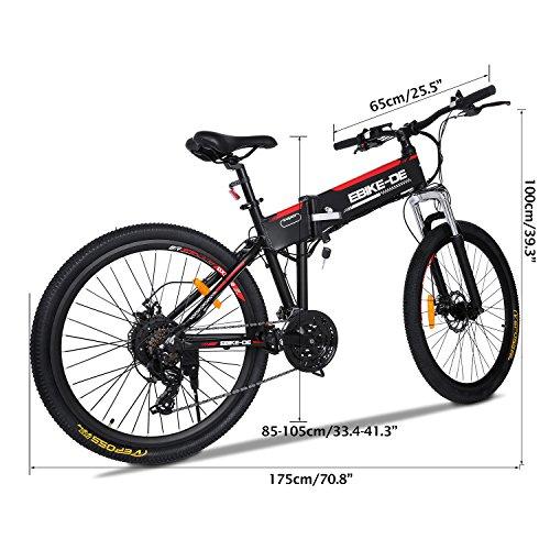 Beautytalk Elektrofahrrad E-bike 26 Zoll E-Mountainbike 25-28 km/h Mountainbike elektro Fahrrad mit Kapazität Lithium-Akku,LED-Anzeige,250W Max 36V 8A(DE Lager)