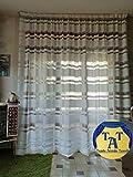 Generico TendeArredoTessile Tenda a Metraggio in Devorè Fasce Orizzontali Moderna Alta 300cm (Panna) clicca per Vedere Tanti Altri Modelli