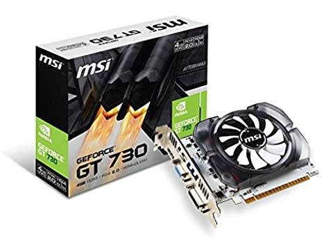MSI N730-4GD3 V2 Carte graphique Nvidia GeForce GT 730 700 MHz 4096 Mo PCI Express Noir