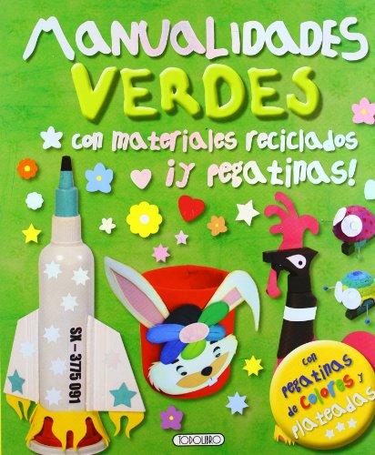 Manualidades verdes con materiales reciclados ¡Y pegatinas!