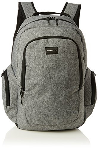 Quiksilver Schoolie Zaino Casual, 41 cm, Light Grey Heather