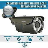 CREATONE LID90SSV Außen Überwachungskamera 720TVL Tag/Nacht l CCD l Real WDR l Linsen von Sony - Sony Super HAD CCD II l