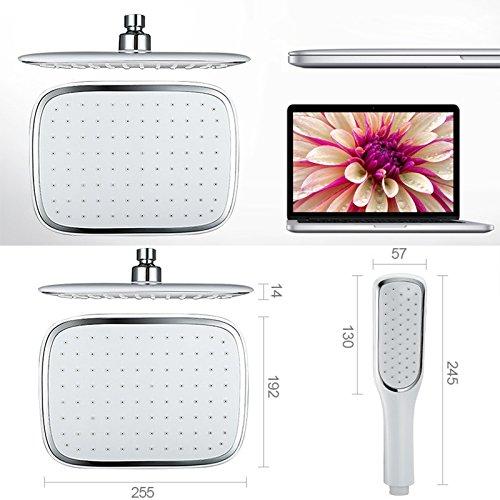 Homelody – Duschsystem mit Einhebelmischer inkl. Brausestange und Brausegarnitur, Weiß - 5