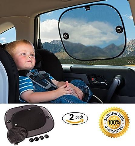Sonnenschutz Auto für Kinder und Babys (2er-Pack) – Sonnenblende für Autofenster