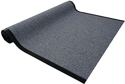 Granat Läufer Col. 40 grau Schmutzfangläufer Meterware 90 cm breit nach Maß Teppich Brücke Flur in vielen Längen und Breiten lieferbar rutschfest hohe Schmutzaufnahme saugfähig und Fußbodenheizung geeignet - Granat-teppich