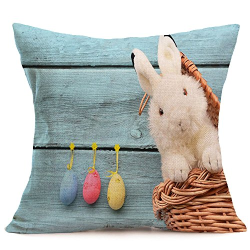JMETRIC Festliches Freizeit Kissenbezug Schutzbezüge Ostern Kissenbezug Kaninchen Drucken Kissenbezug Heimtextilien(O)