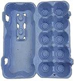 50 Stück Ingbertson® Blaue Eierkartons für 10 Eier