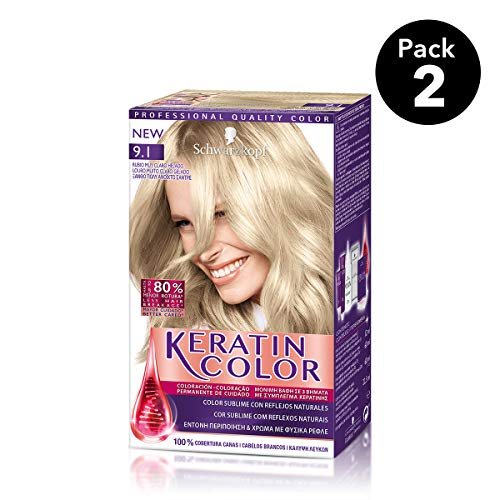 Keratin Color Schwarzkopf - Tono 9.1 Rubio Muy Claro