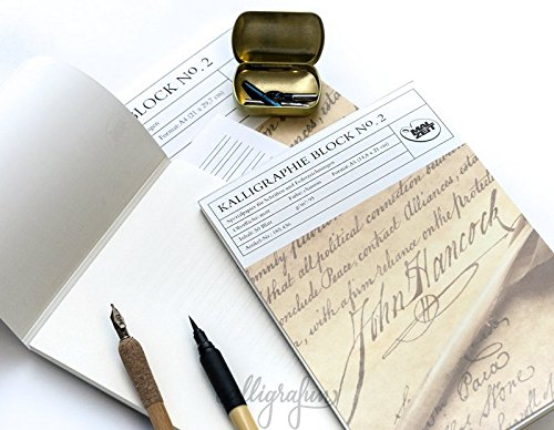 185437 - Kalligraphieblock No. 2 - DIN A4 - 50 Blatt - 95 g/m²
