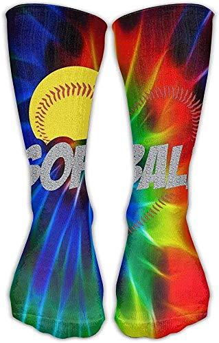 Krawatten-Softball-Socken-klassisches Fcy-Entwurfs-multi bunte Mannschafts-kniehohe Socken, die Fußball-Strümpfe laufen lassen -