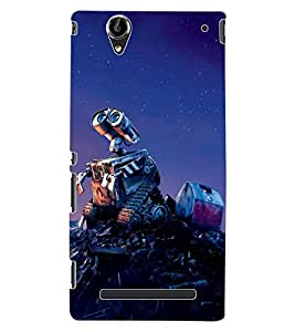 ColourCraft Robot Design Back Case Cover for SONY XPERIA T2 ULTRA