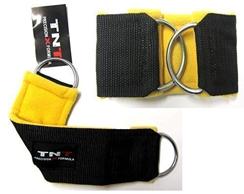 tnt-piranha-foot-flex-gym-ankle-straps-fleece-padding-sold-1-pair-cable-machine-multi-gym-attachment