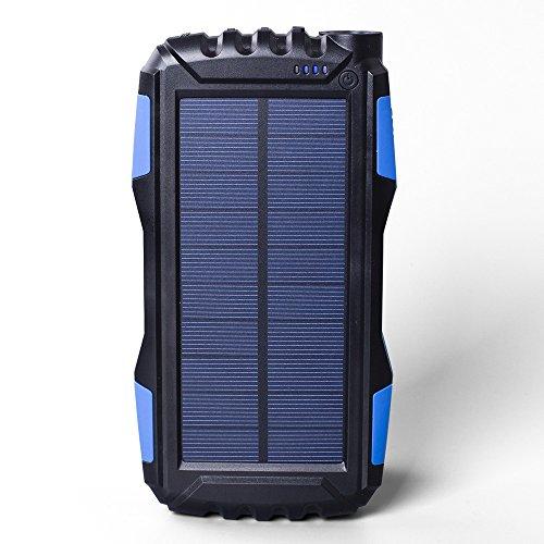 Soluser 25000 mAh Solar Ladegerät stoßfest/Staubdicht 2.1 A USB Ausgang Akku Bank, Outdoor Solar powerbank Handy Externer Akku Ladegeräte mit starken LED-Licht für iPad iPhone-Handys (Outdoor-power-pack)