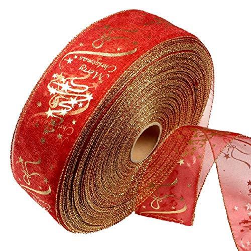 Ogquaton Premium Qualität 2 Mt / 6,56 Meter Seidenbänder für Party Trim Verzierungen Festival Hochzeit Dekoration 5 CM in Breite Rot (100% Seidenband)