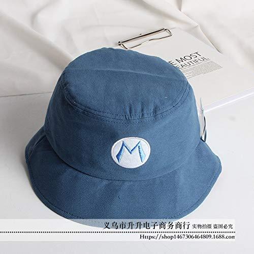 Bad Kostüm Baby Breaking - mlpnko Kinder Sonnenschirm Hut Brief Becken Hut Sonnenhut Baby Sonnenhut Hut Stickerei Fischer Hut blau 52CM