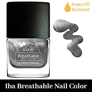 Iba Halal Care Breathable Nail Color, B22 Sparkling Silver, 9ml