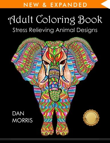 Pdf Adult Coloring Book Stress Relieving Animal Designs E Books