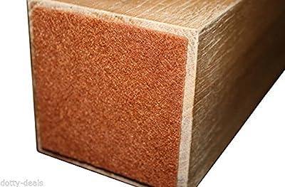 24x selbstklebende Schutz-Quadrate aus Filz Pads