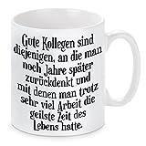 Herzbotschaft Tasse mit Motiv Modell Für Gute Kollegen, Keramik, Weiß, 11 x 11 x 11 cm