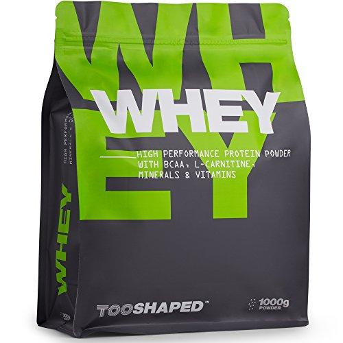 Whey Protein Pulver (Vanille), 1000g, High Performance Eiweißpulver für Muskelaufbau mit BCAA (Nutrition) von TOOSHAPED