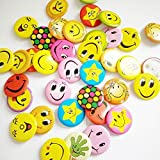 Infinxt Smiley Face Emoji Expressions Button Pins Badge Brooch (Set of 30)