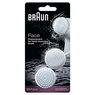 Braun Face Ersatz Reinigungsbürste, für Braun Gesichtsepilierer, 2 Stück