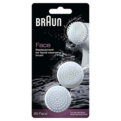Braun Face Ersatz Reinigungsbürste, für Braun Gesichtsepilierer, 2 Stück (Braun 6 Gesicht)
