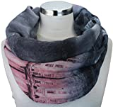 XXL Top Trend Damen Schal Leichter Schlauchschal Viele Farben (M2 Grau/Rosa/Schwarz)