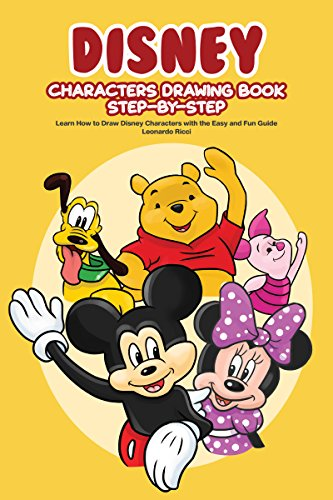 Disney Characters Drawing Book Step By Learn How To Draw