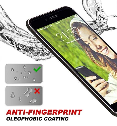 Coque iPhone 7 Plus avec 2 Housses Interchangeables (Rouge & Or Rose) avec Fente pour Carte & Protecteur d'écran (Blanch) Meilleure 360° Protection Case d'absorption de haute qualité, Garantie de Vie Clear