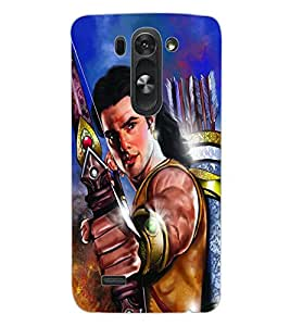 ColourCraft Lord Rama Design Back Case Cover for LG G3 BEAT