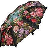 Taschenschirm Schirm Regenschirm - Motiv Rosengarten mit UV-Protection