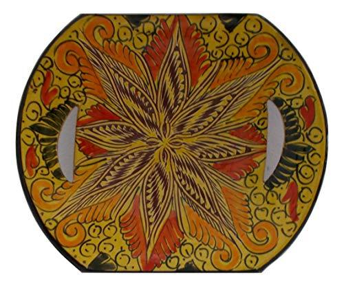 Plato De Cerámica Pared Muro Alcance Entrantes Contorno Servicio Set Decorativo Terracota Pintado A Mano Artesanía Marroquí étnico Marruecos