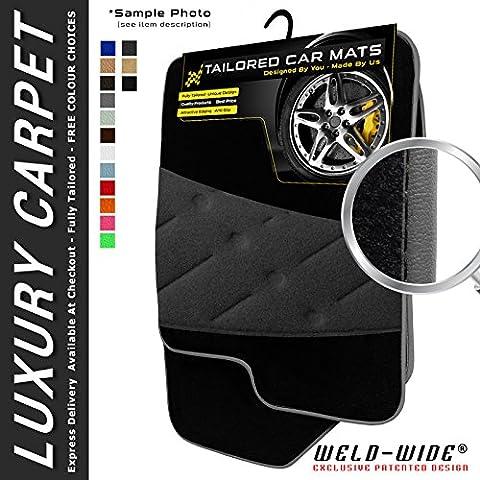 Jeep Grand Cherokee (1999-2005) Luxury Carpet Car Floor Mats + Welded Heel Pad