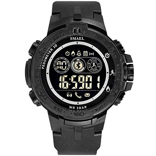 Smartwatches,Intelligente Elektronische Meter-Multifunktions-Kinemometer Walking Rubber Belt Watch Schwarz