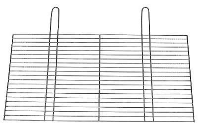 BitWa 54x34cm Grillrost mit zwei festen Handgriffen Grillkamin Kamin Gartengrill für Buschbeck Holzkohlegrill oder Gasgrill 540x 340 mm