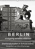 B E R L I N - einzigartig schlaflos effektvoll (Wandkalender 2019 DIN A3 hoch): Berliner Stadtlandschaften in Schwarz/Weiss, fotografiert von Silva ... (Monatskalender, 14 Seiten ) (CALVENDO Orte)