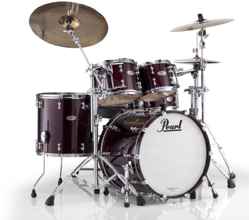 Pearl RFP Reference Pure Low-Mas EvenPly Maple, Birke und afrikanisches Mahagoni Fusion Shell Pack (20x18, 10x8, 12x9, 14x14) neue Fusion Black Cherry -
