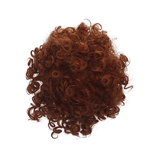 up Zubehör für 18 Zoll American Girl Puppe - DIY Wellenförmige / Lockiges / Glattes Perücke Haarteil - F (Halloween Make Up-girls)