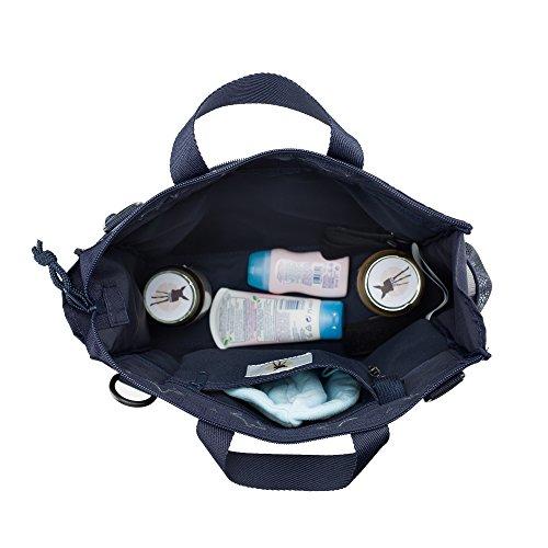 Lässig Casual Buggy Bag Organizer Kinderwagenorganizer/-tasche inkl. Stroller Hooks, Reflective Star, schwarz - 5