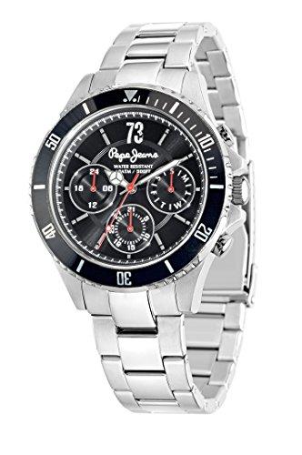 Pepe Jeans R2353106002 - Reloj con correa de acero para hombre, color negro/gris