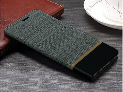 Febelo (TM) Professional Design Video Stand View Perfect Fitting Flip Cover Case for Lenovo Vibe K5 Note / Lenovo K5 Note 5.5 Inch - Grey Black Color
