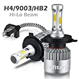 H4 LED Phare Ampoules Voiture Auto COB Lampe 72W 6500K 8000LM Super Bright