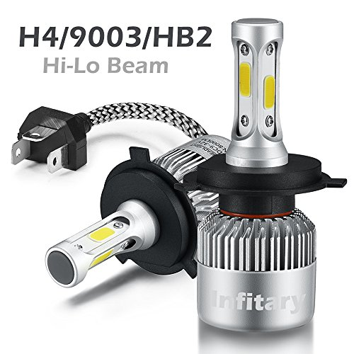 H4 LED Phare Ampoules Voiture Auto COB Lampe 72W 6500K 8000LM Super Bright