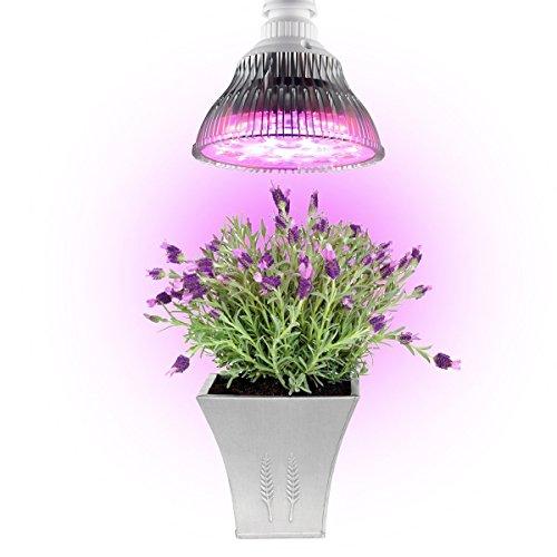 Derlight 14W E27Base LED luces de crecimiento de plantas bombilla 6rojo + 1azul para jardín hidropónico invernadero plantas de interior Plantas de tomate cactus (14W)