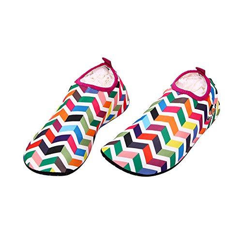 amazmall Unisex Barefoot Acqua Pelle Scarpe Aqua calzini per Beach Swim Yoga Red